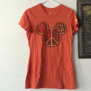 Mickey Head Peace & Love Disney Parks tshirt